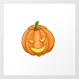 Evil pumpkin Art Print