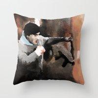 rocky Throw Pillows featuring ROCKY by Bernardo Furlanetto