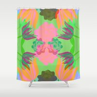 oasis Shower Curtains featuring Oasis by Ingrid Castile