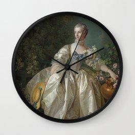 Madame Bergeret - François Boucher - 1766 Wall Clock