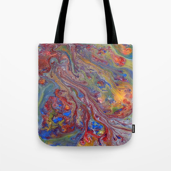 Psychedelic Lava Flow Tote Bag