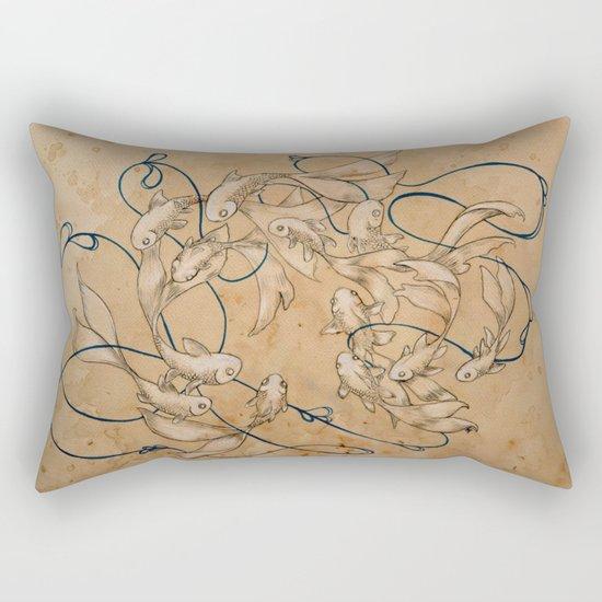 Twirl and Loop Rectangular Pillow