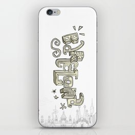 Barcelona with significant buildings iPhone Skin