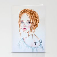 doll Stationery Cards featuring Doll by Black Fury