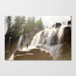 Life On The Falls Canvas Print