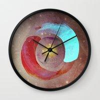 compass Wall Clocks featuring Compass by Iris Lehnhardt