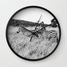in a row::kenya Wall Clock