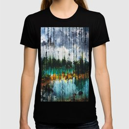 Abstract Mountain Lake T-shirt