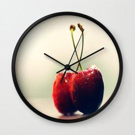#Two #Gourmet #cherry Wall Clock