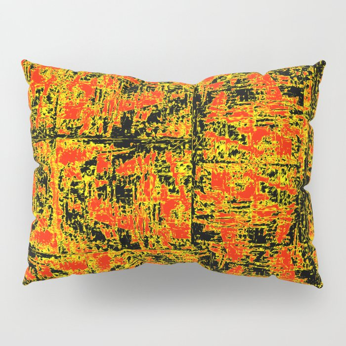 Golden Red Pillow Sham