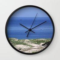 cape cod Wall Clocks featuring Cape Cod by Heidi Ingram