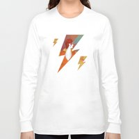 david bowie Long Sleeve T-shirts featuring Bowie by David van der Veen