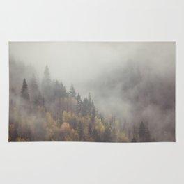 Foggy Elephant Mountain Rug