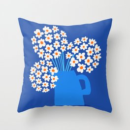 Abstraction_FLORAL_Blossom_001 Throw Pillow