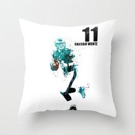 Carson Wentz #American football player Throw Pillow