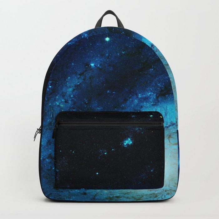 Teal Pinwheel Galaxy Backpack