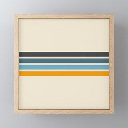 Vintage Retro Stripes Framed Mini Art Print