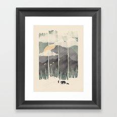 Spring Mountain Weather Framed Art Print