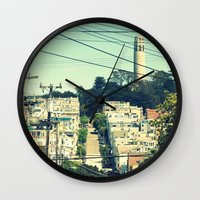 san francisco Wall Clocks featuring San Francisco by Mr and Mrs Quirynen
