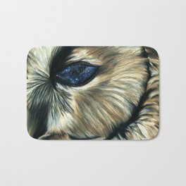 Cosmic Owl Eye Bath Mat