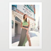 Model in Green Dress Art Print