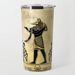 Anubis the egyptian god Travel Mug