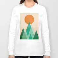 high Long Sleeve T-shirts featuring No mountains high enough by Picomodi