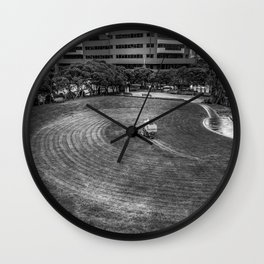 Mowing The Lawns In A Circle Wall Clock