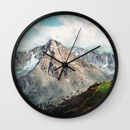 Mount Of The Holy Cross - Rocky Mountains - 1900 Photochrom Wall Clock