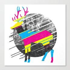 CMYK Deer Canvas Print