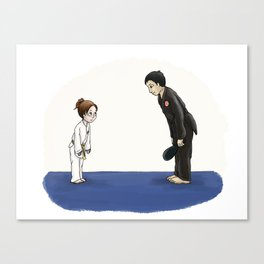 Tae Kwon Do Spot Illustrations Canvas Print