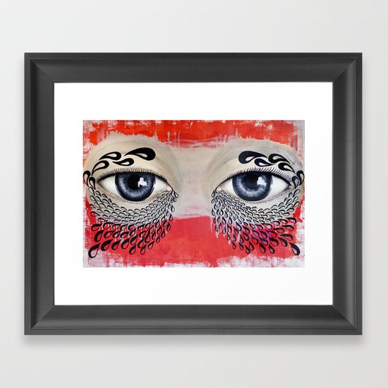 Tears Flow Framed Art Print