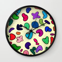 Seamless Colorful Geometric Pattern XXIX Wall Clock