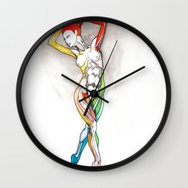 Glamour, Nude female dancer, NYC artist Wall Clock