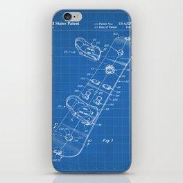 Snowboard Patent - Snowboaring Art - Blueprint iPhone Skin