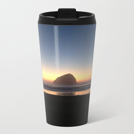 Sunset over the Pacific Metal Travel Mug