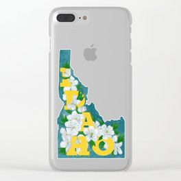 State Florals - Idaho Floral Watercolor - Yellow Clear iPhone Case