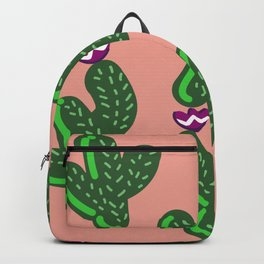 Prickly Cactus with Purple Flowers Backpack