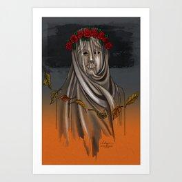 The Veiled Lady Art Print