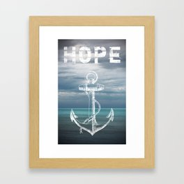 Hope Anchor Framed Art Print