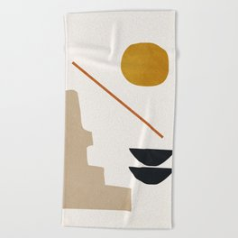 abstract minimal 6 Beach Towel
