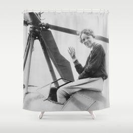 Amelia Earhart Shower Curtain