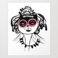 Catalina pink Art Print