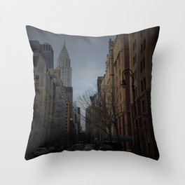 NY bluff Throw Pillow
