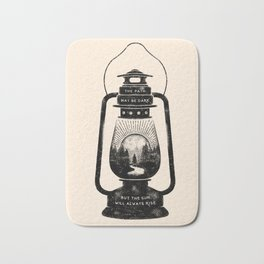 THE PATH MAY BE DARK BUT THE SUN WILL ALWAYS RISE Bath Mat