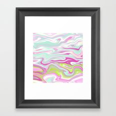 Iridescent Marble 04 Framed Art Print