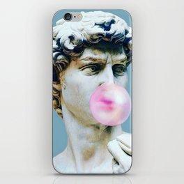 The Statue of David (Michelangelo) with Bubblegum iPhone Skin