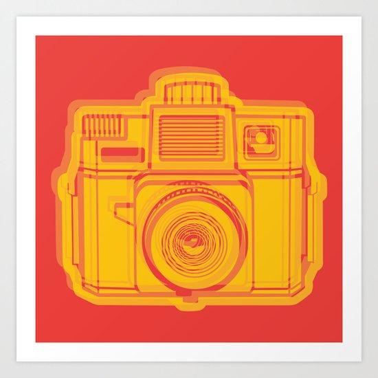 I Still Shoot Film Holga Logo - Reversed Yellow & Red Art Print