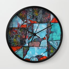 Over, Under, In and Out Wall Clock