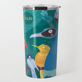 Colorful Birds in the Jungle Travel Mug